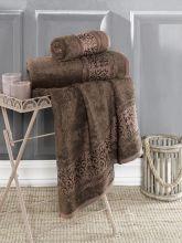 Полотенце бамбуковое ARMOND 50*90(коричневое) Арт.3307-10