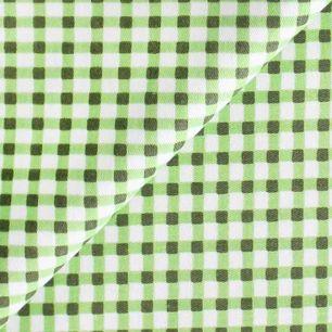 Ткань Хлопок Зеленая клетка 50x40
