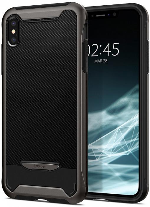 Чехол SGP Spigen Hybrid NX для iPhone Xs / X стальной