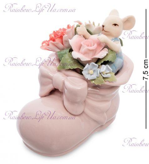 """Статуэтка Мышонок в цветочном башмаке """"Pavone"""""""