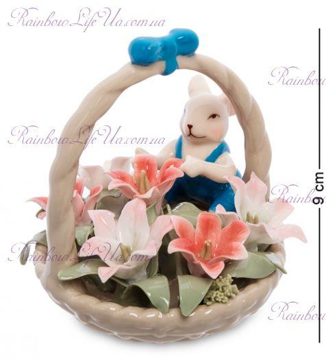 """Статуэтка мышонок с цветочной корзинкой """"Pavone"""""""