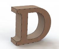 Объемная буква D