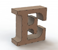 Объемная буква E