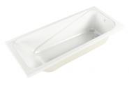Прямоугольная акриловая ванна Метакам Light на ножках 150x70 см