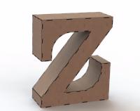 Объемная буква Z