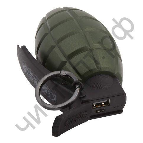 Моб. заряд. устрой. Remax RPL-28, Grenade, 5000mAh, пластик, 1 USB выход, 2.1A, цвет: зелёный Power Bank оригинал