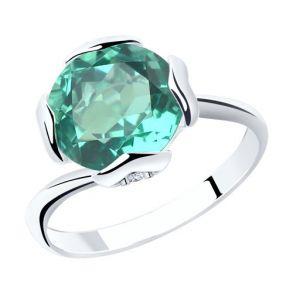 Кольцо из серебра с кварцем и фианитами 92011796 SOKOLOV