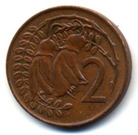 Новая Зеландия 2 цента 1973