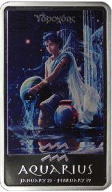 Знаки зодиака - Водолей 2 доллара Ниуэ 2012