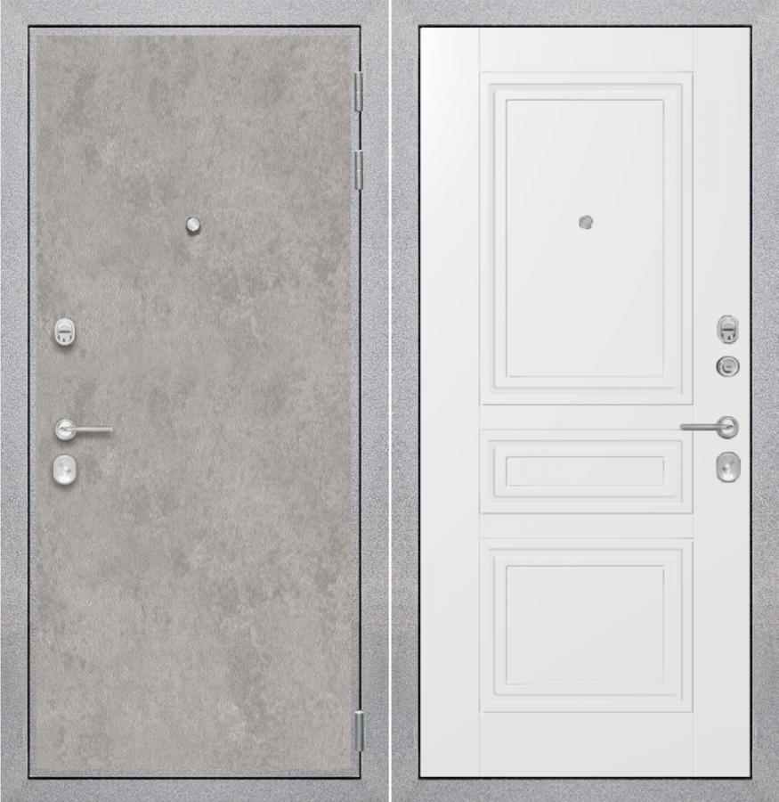 """Входная дверь ZMD """"Лофт бетон Классика сноу"""""""