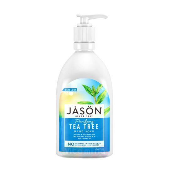Jason Жидкое мыло для рук «Чайное дерево» Purifying Tea Tree Hand Soap, 473 г