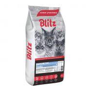 Blitz Sterilised Cats сухой корм с индейкой для стерилизованных кошек 10 кг