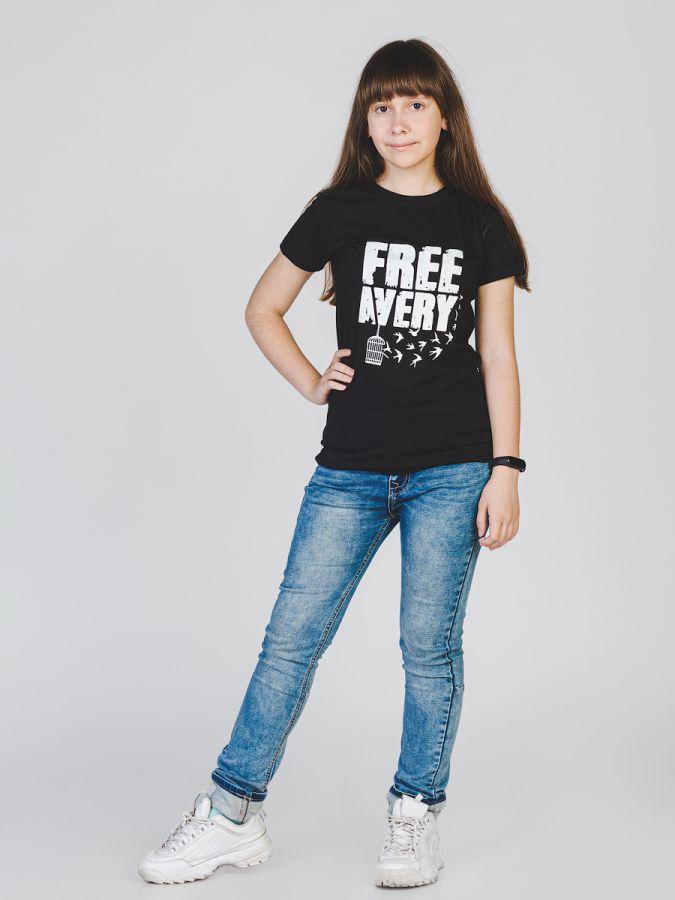 Птички футболка женская