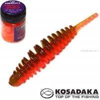 Мягкие приманки Kosadaka Leech Fat 42 мм / упаковка 9 шт / Сыр / цвет: DGR