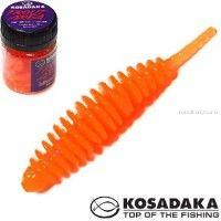 Мягкие приманки Kosadaka Leech Fat 42 мм / упаковка 9 шт / Сыр / цвет: OR
