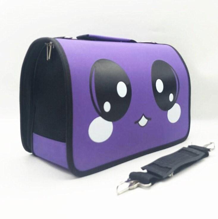 Жесткая складная сумка-переноска для домашних животных, 37х18х22 см, фиолетовый