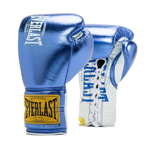 Перчатки Everlast  боевые 1910 Classic 10oz синие, артикул P00001903