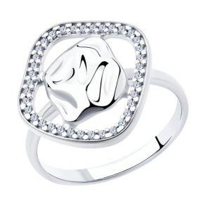Кольцо из серебра с фианитами 94013080 SOKOLOV