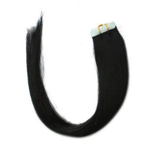 Натуральные волосы на липучках №001 (45 см)
