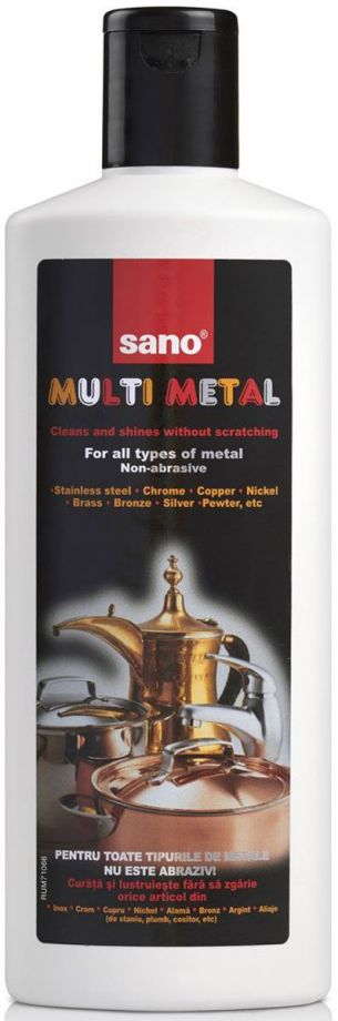 SANO Multi Metal Cleaner Чистящее средство для любых металлов 300 мл