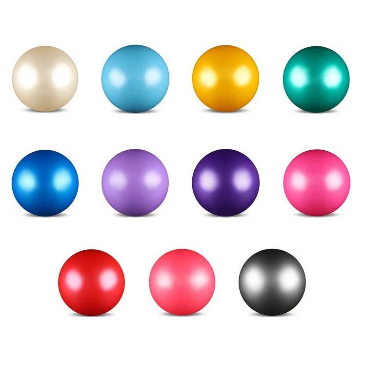 Мяч для худ. гимнастики INDIGO AB2803 15cм 300г металлик