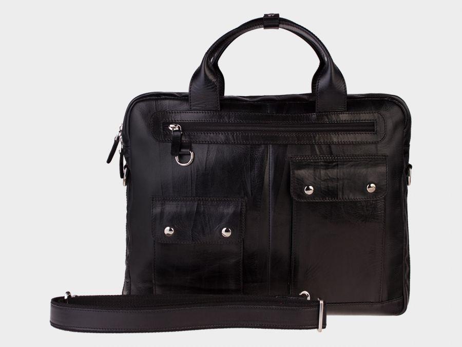 Сумка-портфель из натуральной кожи ALEXANDER-TS «PF0019 Black»