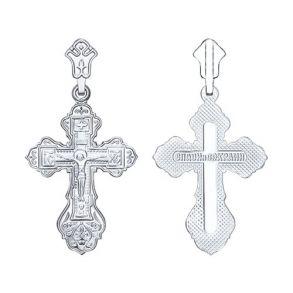 Крест из серебра 94120023 SOKOLOV