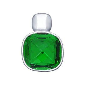 Подвеска из серебра с зелёным кристаллом Swarovski 94031611 SOKOLOV