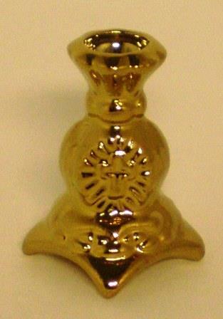 Подсвечник с крестом на квадратной ножке (золотой)