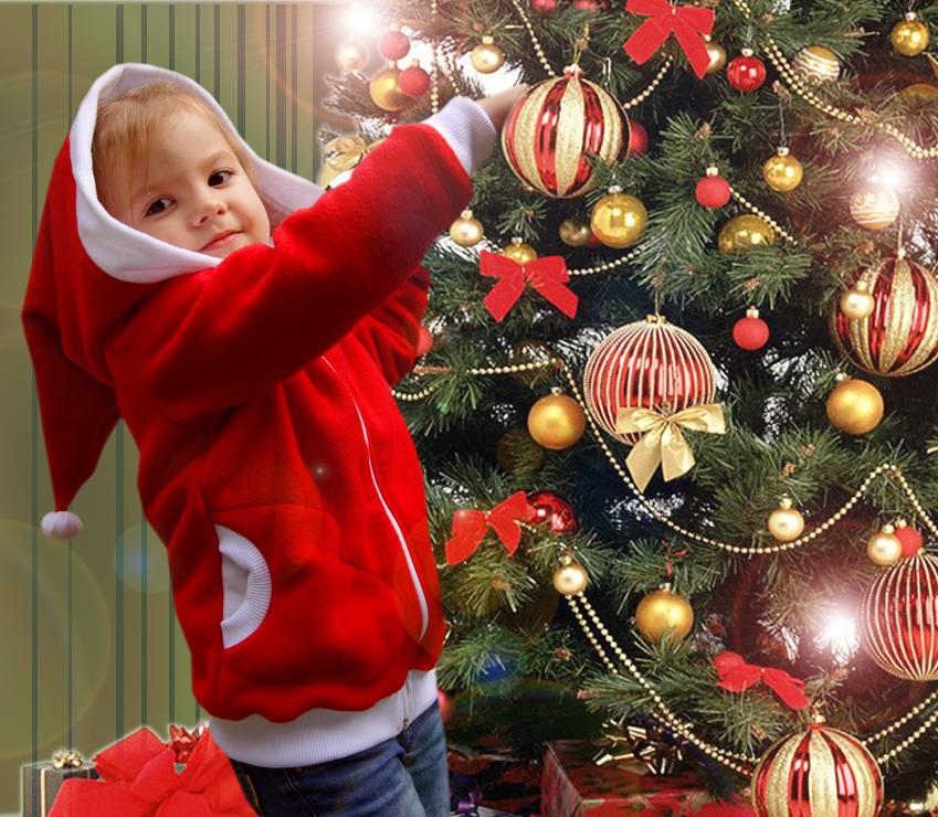 Детская новогодняя кофта Снегурок