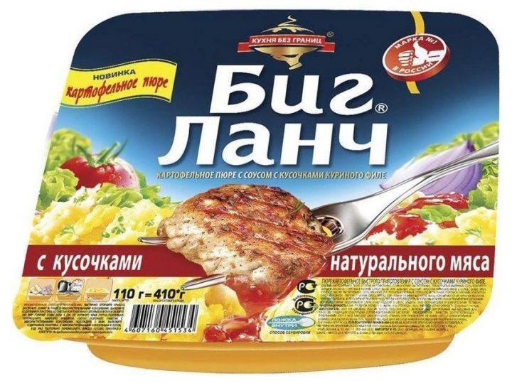 Карт.пюре Биг ланч с кусочками куринного филе 110г