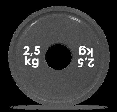 Диск стальной для пауэрлифтинга с полимерным покрытием, 2,5 кг, Turbogym