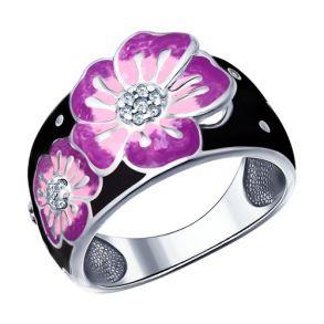 Кольцо с цветком 94011497 SOKOLOV