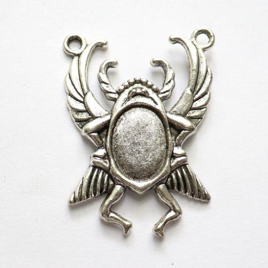 Рамка сеттинг, №14, коннектор, тибетское серебро, Скарабей, 1 шт/упак