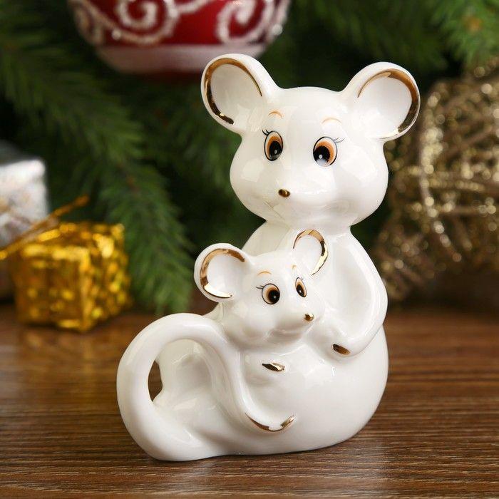 Фигурка Мышка с мышонком