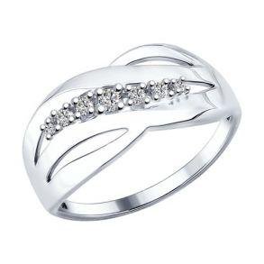 Кольцо из серебра с фианитами 94012170 SOKOLOV