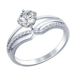 Кольцо из серебра с фианитами 94012241 SOKOLOV