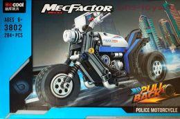Конструктор  DECOOL Technic MecFactor Полицейский мотоцикл 3802 (Аналог LEGO Technic) 284 дет