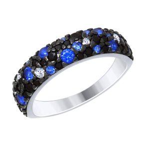 Кольцо из серебра с фианитами 94012478 SOKOLOV