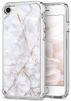 Чехол Spigen Ultra Hybrid 2 Marble для iPhone 7 белый