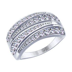 Кольцо из серебра с фианитами 94012630 SOKOLOV