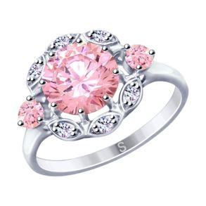 Кольцо из серебра с фианитами 94012951 SOKOLOV