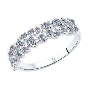 Кольцо из серебра с фианитами 94012971 SOKOLOV