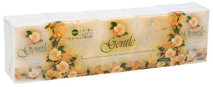 Gotaiyo Gentle Салфетки трехслойные с ароматом Европы 100 шт/уп