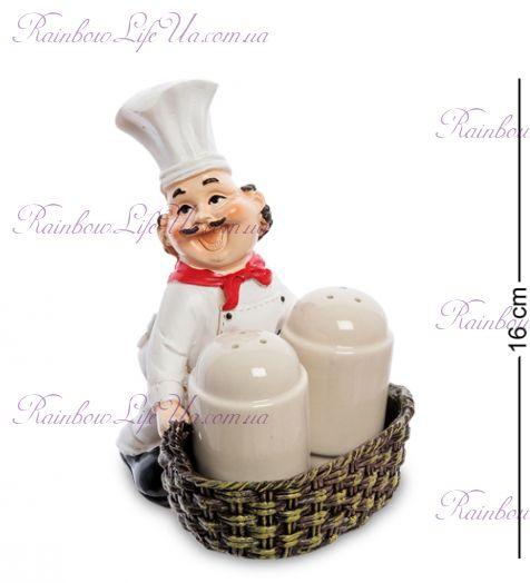 """Фигурка повар с корзинкой с солонкой и перечницей """"HF"""""""