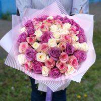 51 роза микс 50см (ЭКВАДОР)