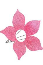 Каркас для букета Цветок d 25 см. /цвет светло-розовый/