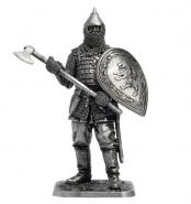 Русский воин с топором, 14 век (олово)