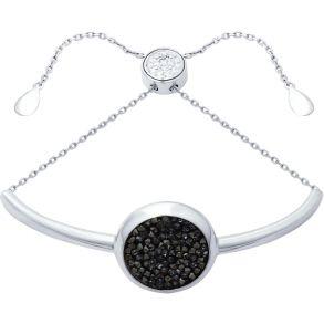 Браслет из серебра с кристаллами Swarovski и фианитами 94050407 SOKOLOV