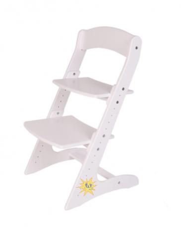 Детский растущий стул. Белый.